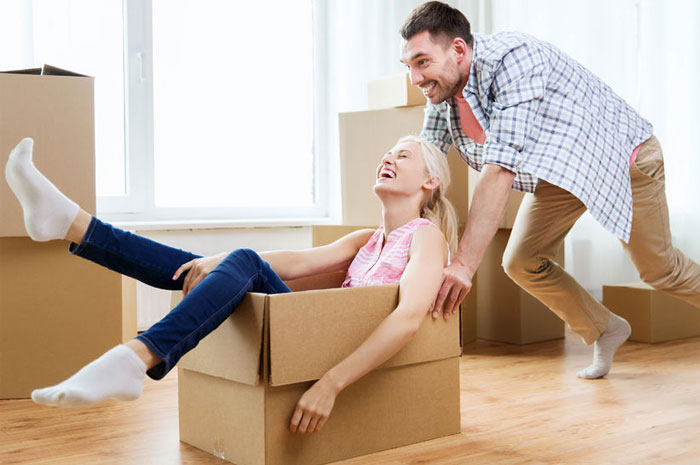 couple packing things for storage